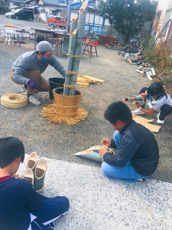 広島県大崎上島町で「門松ワークショップ」を開催。