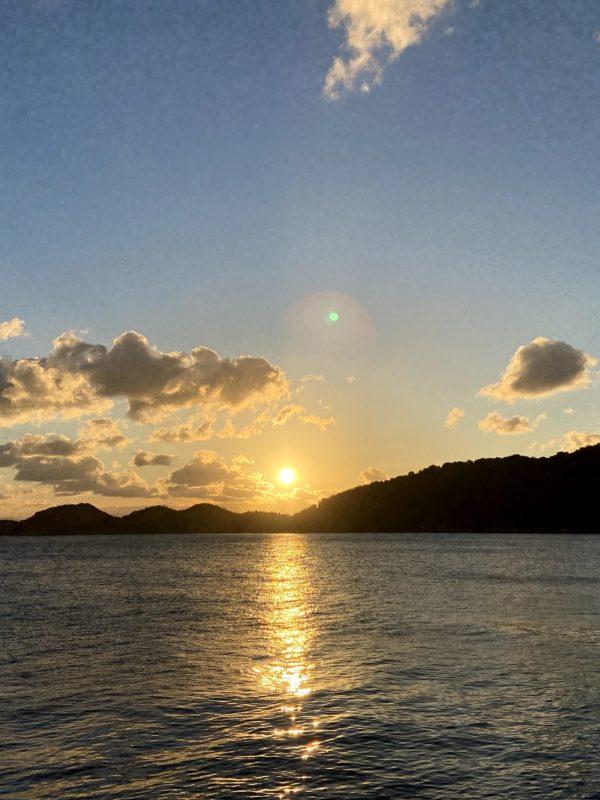 山口県最東端の周防大島から初日の出